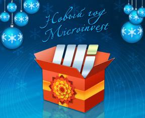 promo buletin Новый год Microinvest
